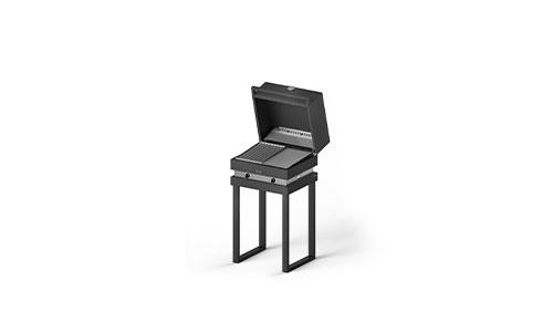 fogher barbecue a gas 500 con cappa