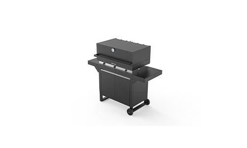 fogher barbecue a gas 750 cappa e mobiletto